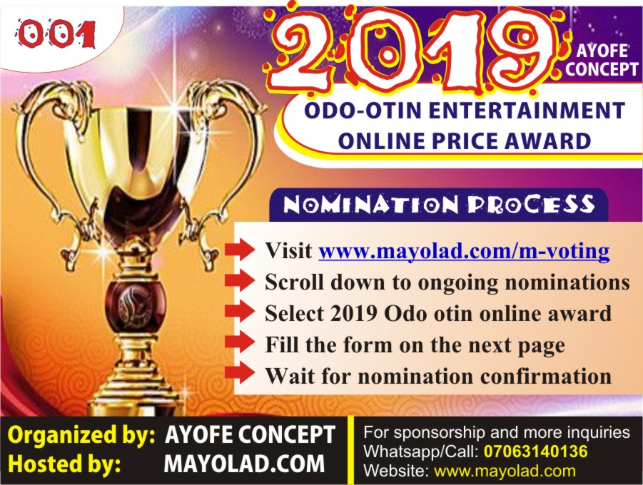 2019 Odo – Otin Entertainment Online Price Award by Ayanfe Concept – 001