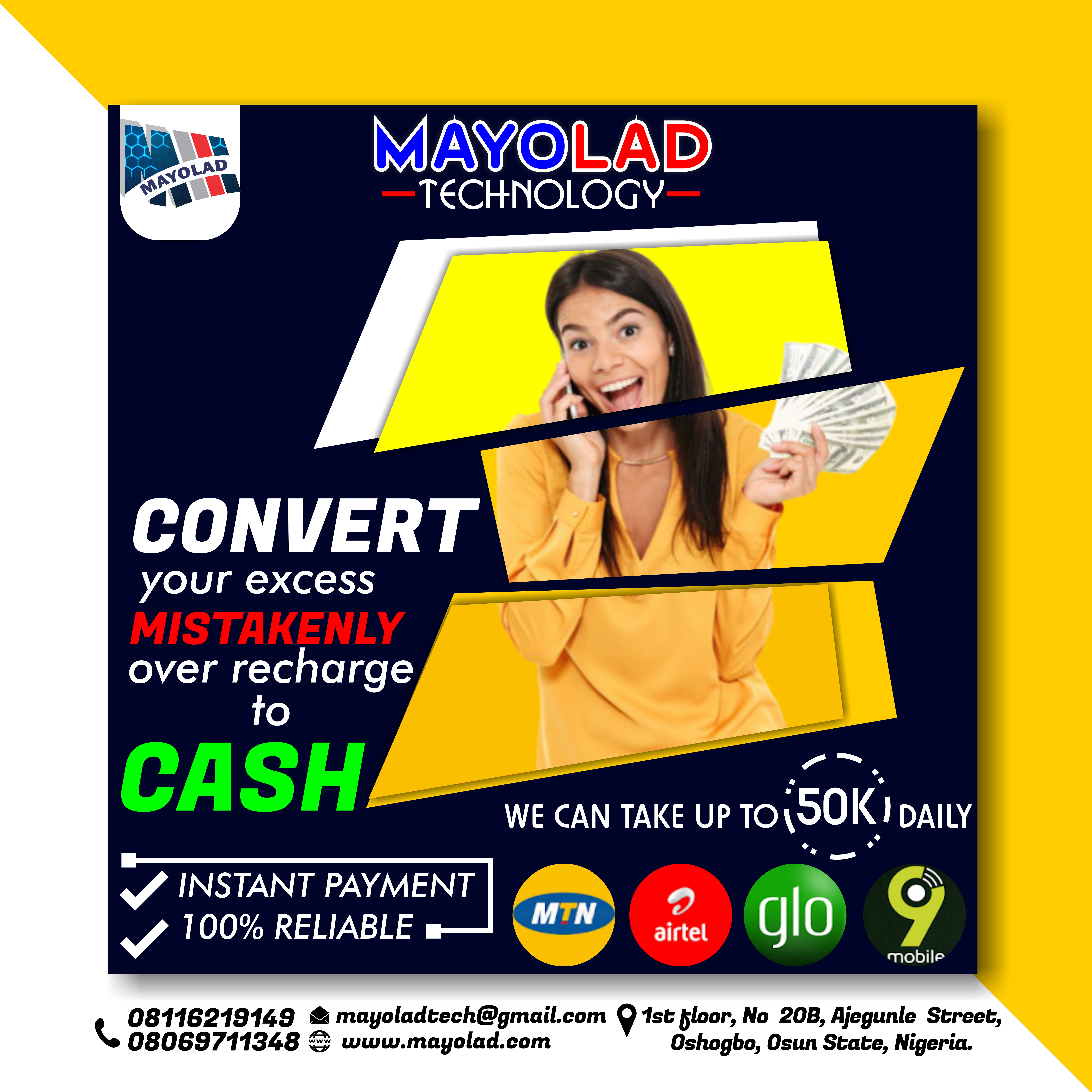 MAYOLAD TECH RECHARGE FLYER